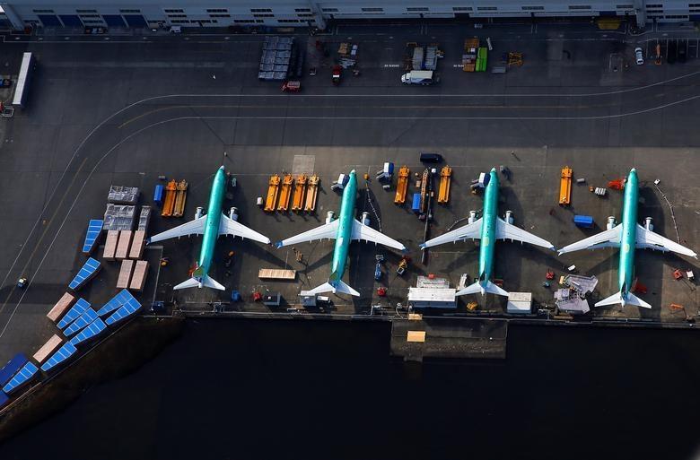 Dan may bay 737 MAX tai nha may Boeing nhin tu tren khong hinh anh 8