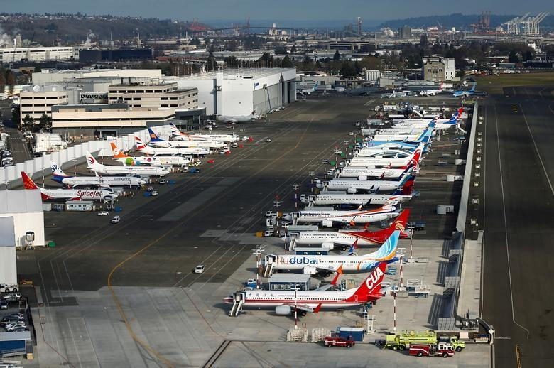 Dan may bay 737 MAX tai nha may Boeing nhin tu tren khong hinh anh 9