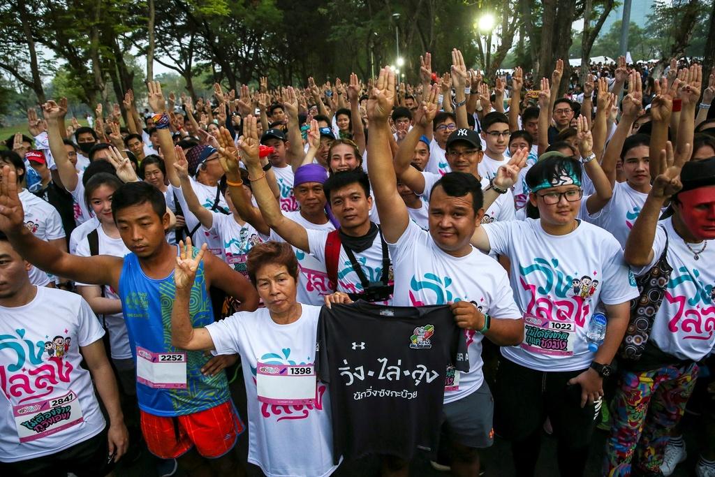 Hang nghin nguoi Thai chay bo phan doi chinh quyen Thu tuong Prayuth hinh anh 2 2020_01_12T020807Z_1477569079_RC22EE92DWBU_RTRMADP_3_THAILAND_POLITICS.JPG