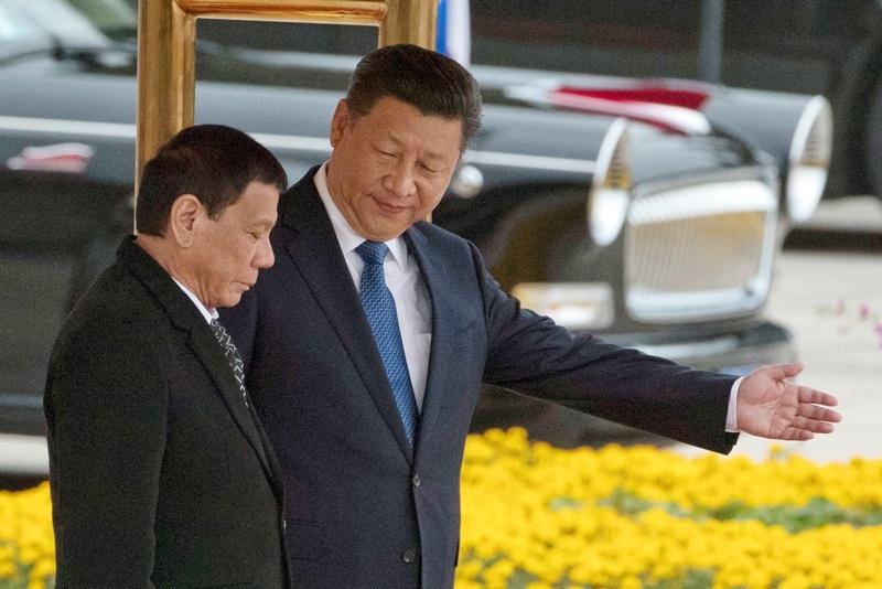 Tổng thống Duterte đã 6 lần thăm Trung Quốc trong nhiệm kỳ. Ảnh: Philstar.
