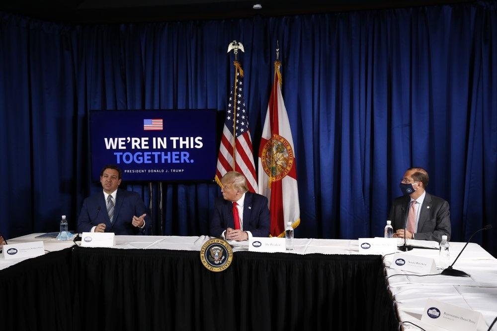 Tong thong Trump toi Florida van dong tranh cu anh 5