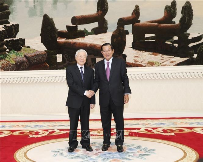 Tong bi thu, Chu tich nuoc hoi kien Thu tuong Campuchia Hun Sen hinh anh 1