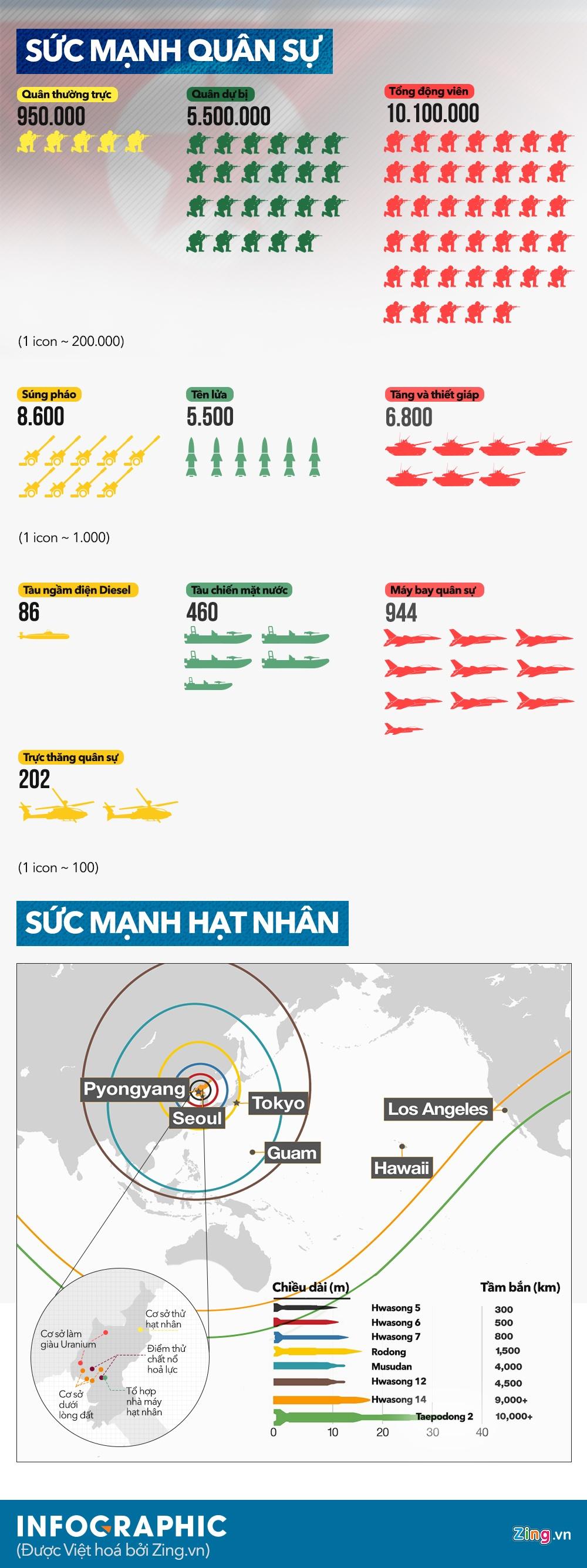 Infographic: Suc manh dang gom cua quan doi Trieu Tien hinh anh 1
