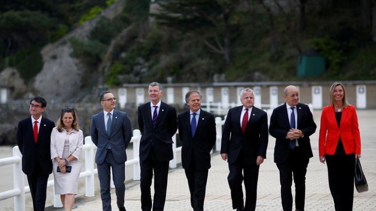Vang ngoai truong My, G7 ket thuc hoi nghi khong tranh cai hinh anh 1