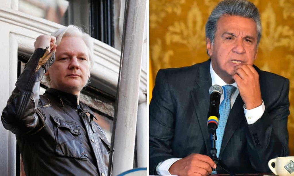 Ecuador phan boi Julian Assange anh 1