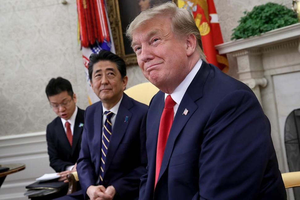 Tong thong Trump tham Nhat anh 1