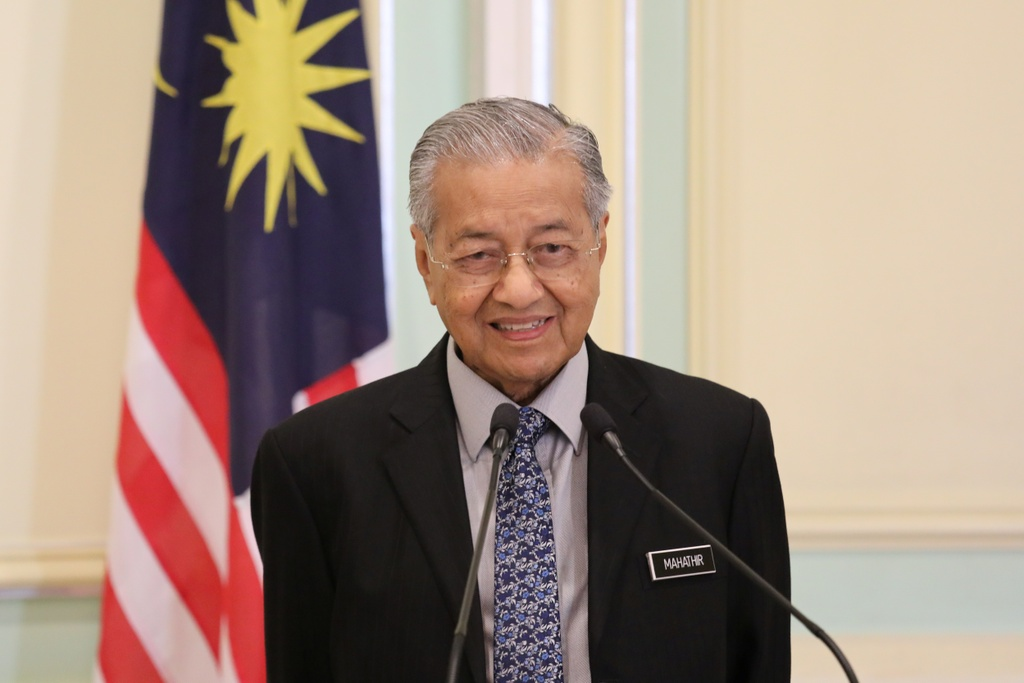 Thu tuong Mahathir de don tu chuc len quoc vuong Malaysia hinh anh 1 Mahathir.JPG