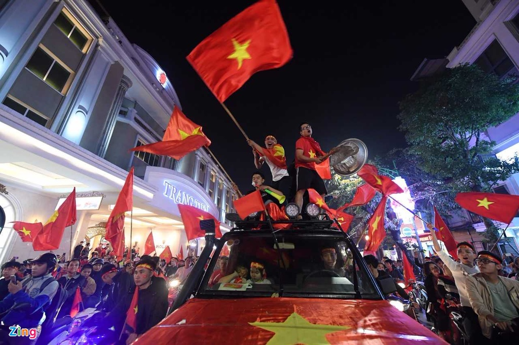 Ho Guom ruc mau co do sau chien thang cua U23 Viet Nam hinh anh 3