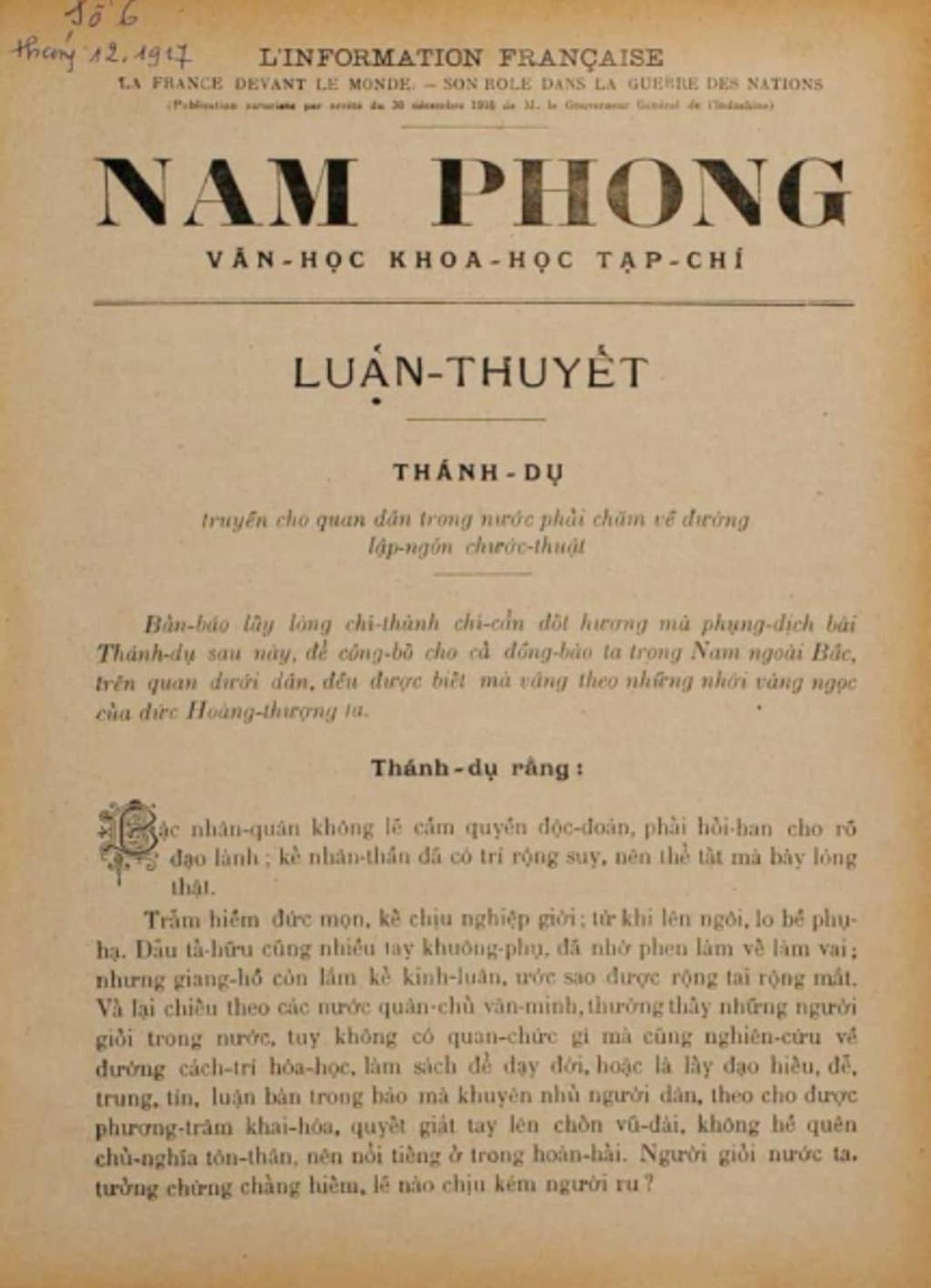 Nam Phong, to bao khong chi khoi day hung thu quoc van hinh anh 1