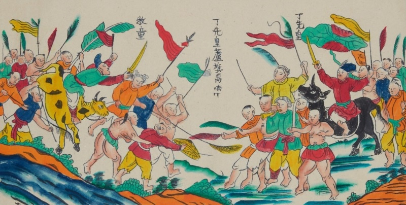 Hoa quyen truyen thong va hien dai trong tranh dan gian Hang Trong anh 4