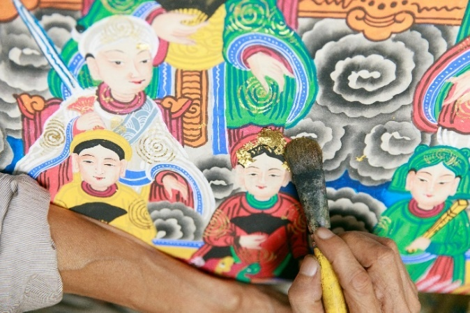 Hoa quyen truyen thong va hien dai trong tranh dan gian Hang Trong anh 3