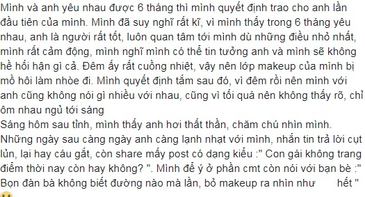 Sau 6 thang hanh phuc, co gai bi nguoi yeu bo vi mat moc qua xau hinh anh 1