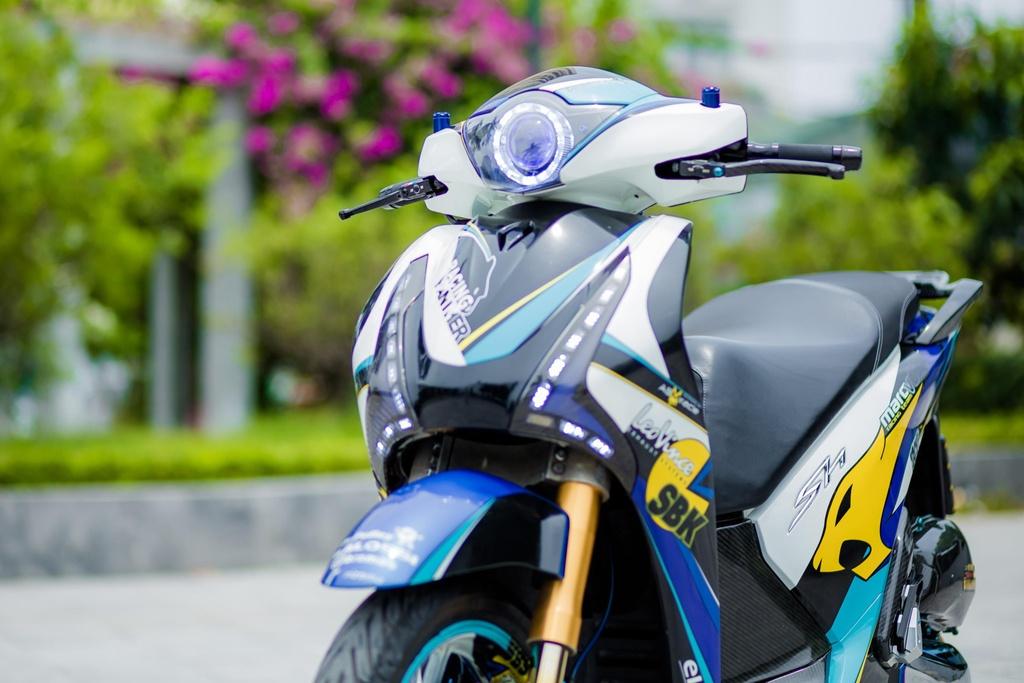 Honda SH 150i voi loat trang bi tri gia nua ty dong cua biker Ha Noi hinh anh 4