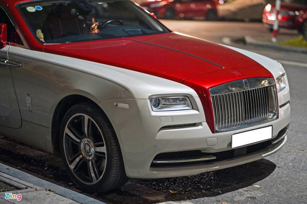 Rolls-Royce Wraith phoi mau la tai Ha Noi anh 5