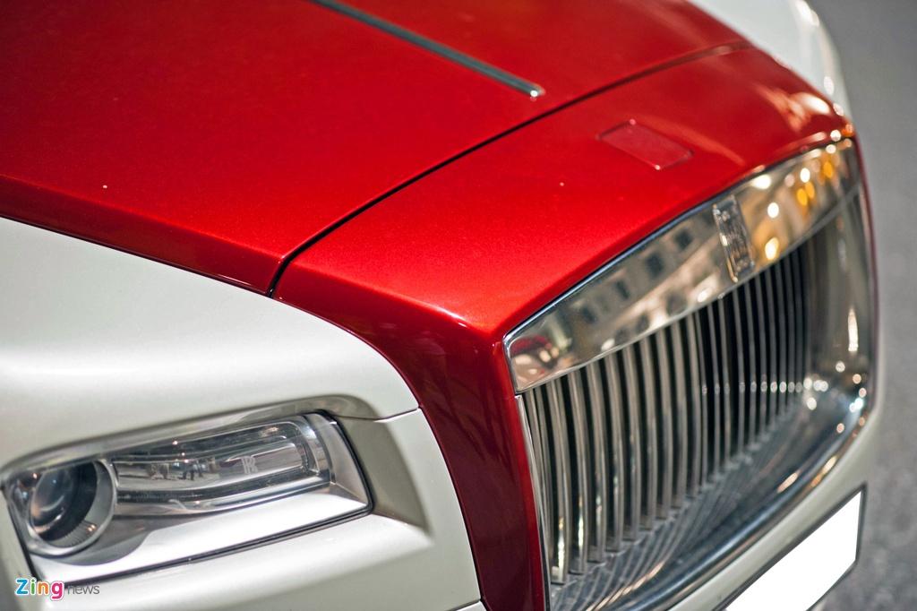 Rolls-Royce Wraith phoi mau la tai Ha Noi anh 6
