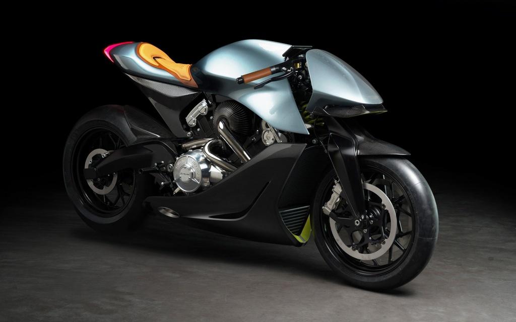 Aston Martin ra mat sieu moto gia 120.000 USD, than xe bang carbon hinh anh 2