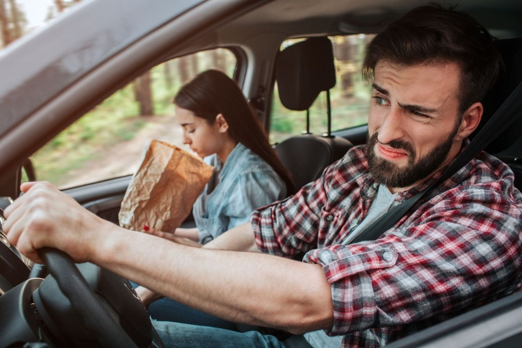 Nôn là triệu chứng phổ biến nhất của say tàu xe. Ảnh: Motoring Research.