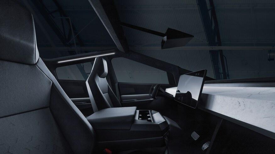 Tesla thu ve hon 50 trieu USD sau 3 thang ra mat ban tai Cybertruck hinh anh 10 TeslaCybertruckElectricPickupTruckInteriorFrontSeatsandCenterConsole.jpg