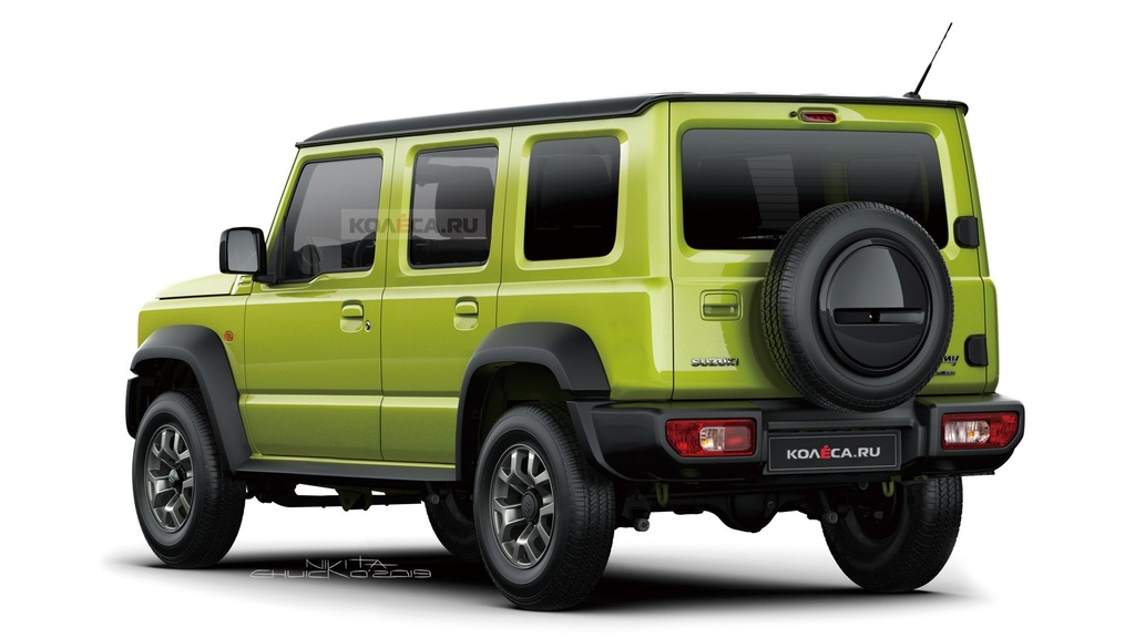 Suzuki Jimny 5 cua se ra mat vao cuoi nam, su dung dong co 1.5L hinh anh 2 Five_door_Suzuki_Jimny_rendering_by_Kolesa.jpg