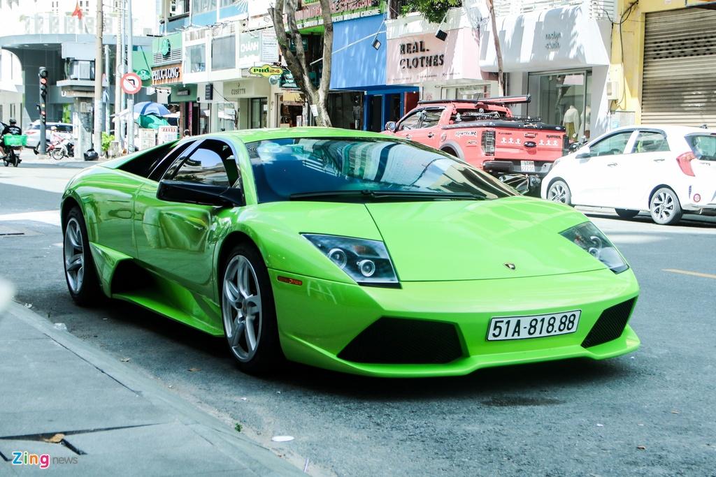 Lamborghini Murcielago mau xanh com doc nhat VN anh 3