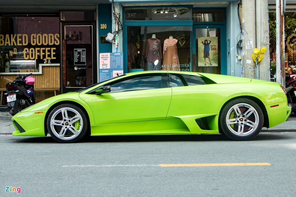 Lamborghini Murcielago mau xanh com doc nhat VN anh 6