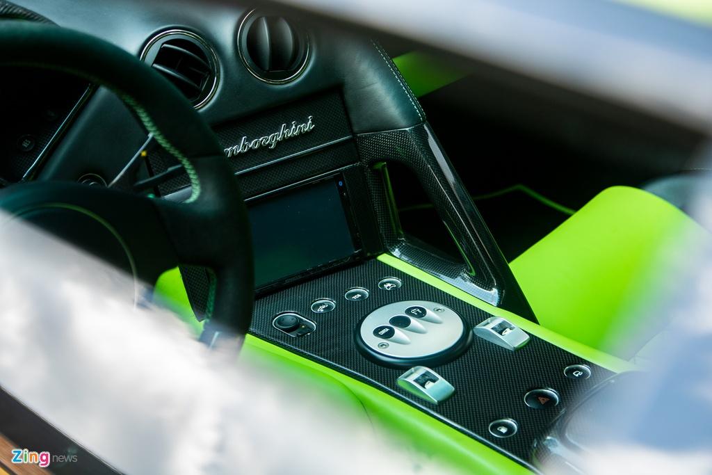Lamborghini Murcielago mau xanh com doc nhat VN anh 10