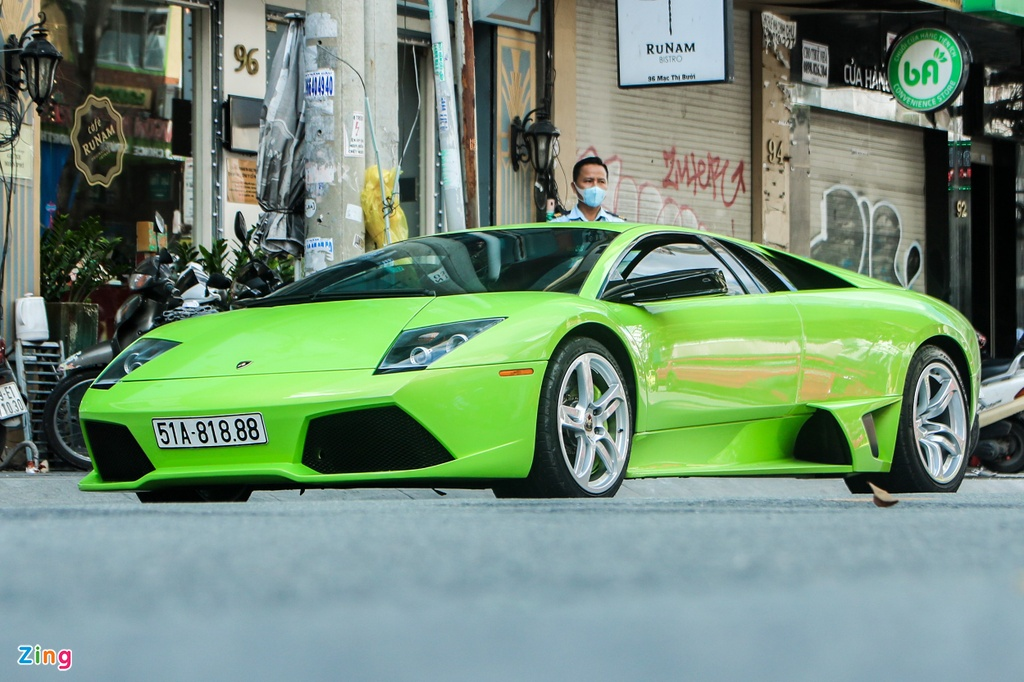 Lamborghini Murcielago mau xanh com doc nhat VN anh 1