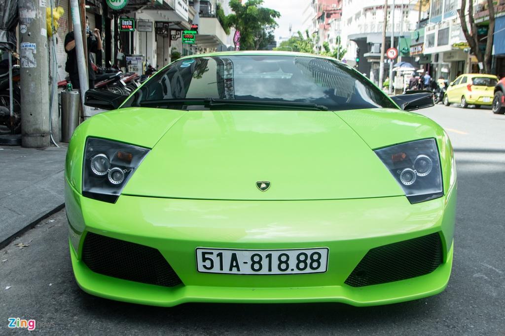 Lamborghini Murcielago mau xanh com doc nhat VN anh 4