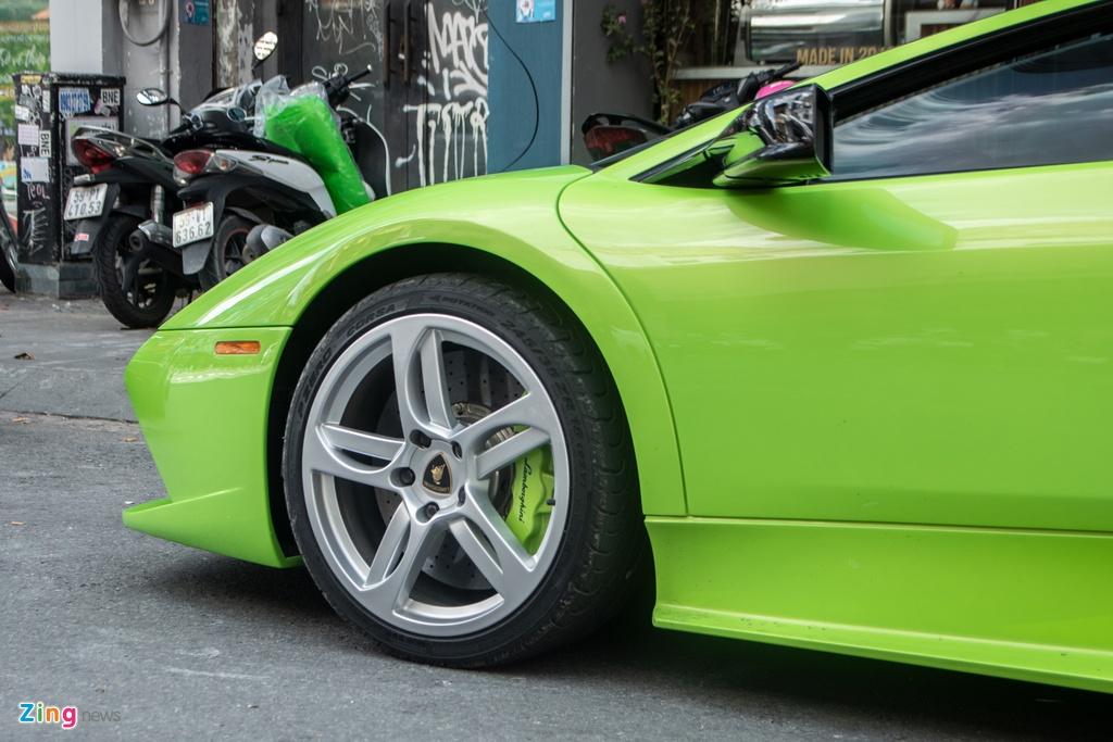 Lamborghini Murcielago mau xanh com doc nhat VN anh 9