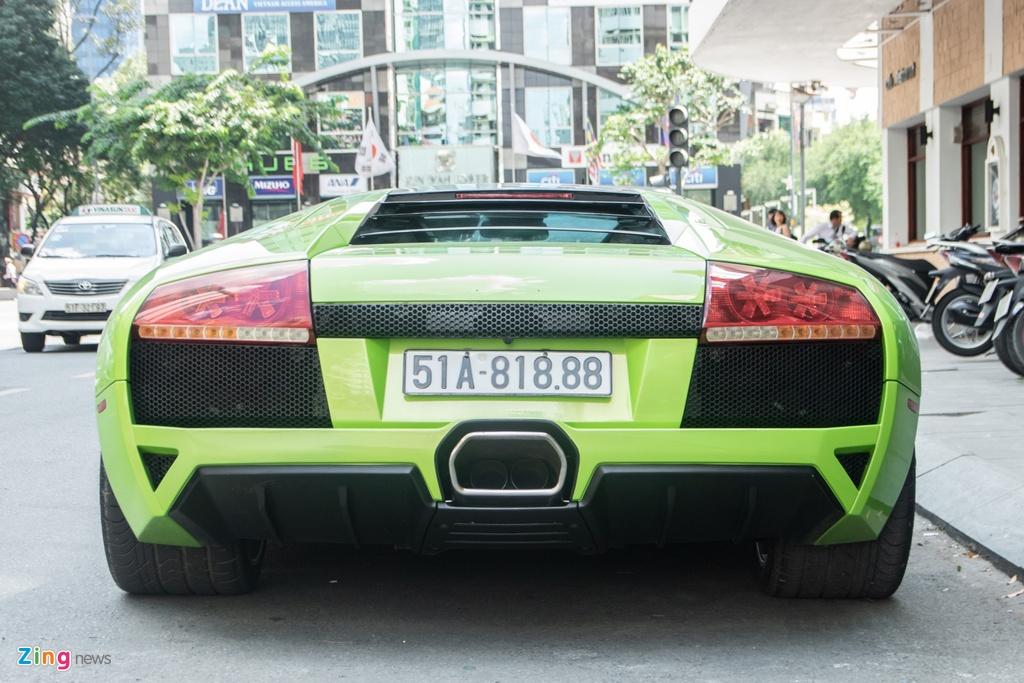Lamborghini Murcielago mau xanh com doc nhat VN anh 5