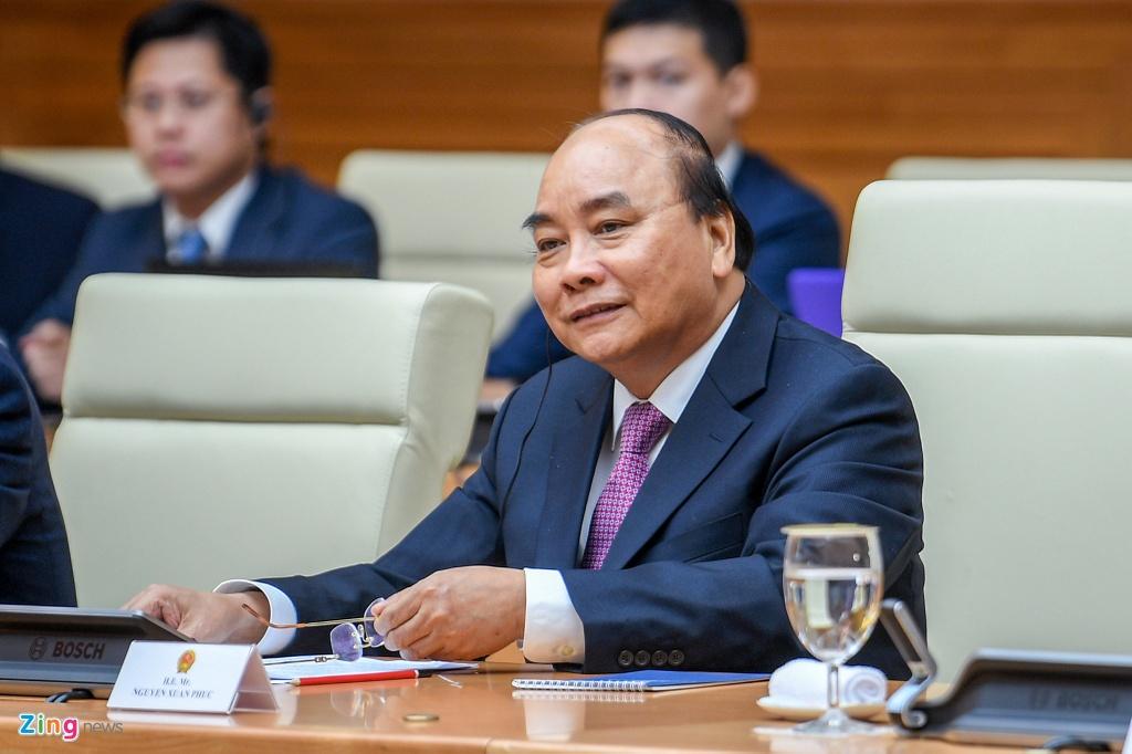 Thu tuong Nguyen Xuan Phuc hoi dam voi Thu tuong Hun Sen hinh anh 7