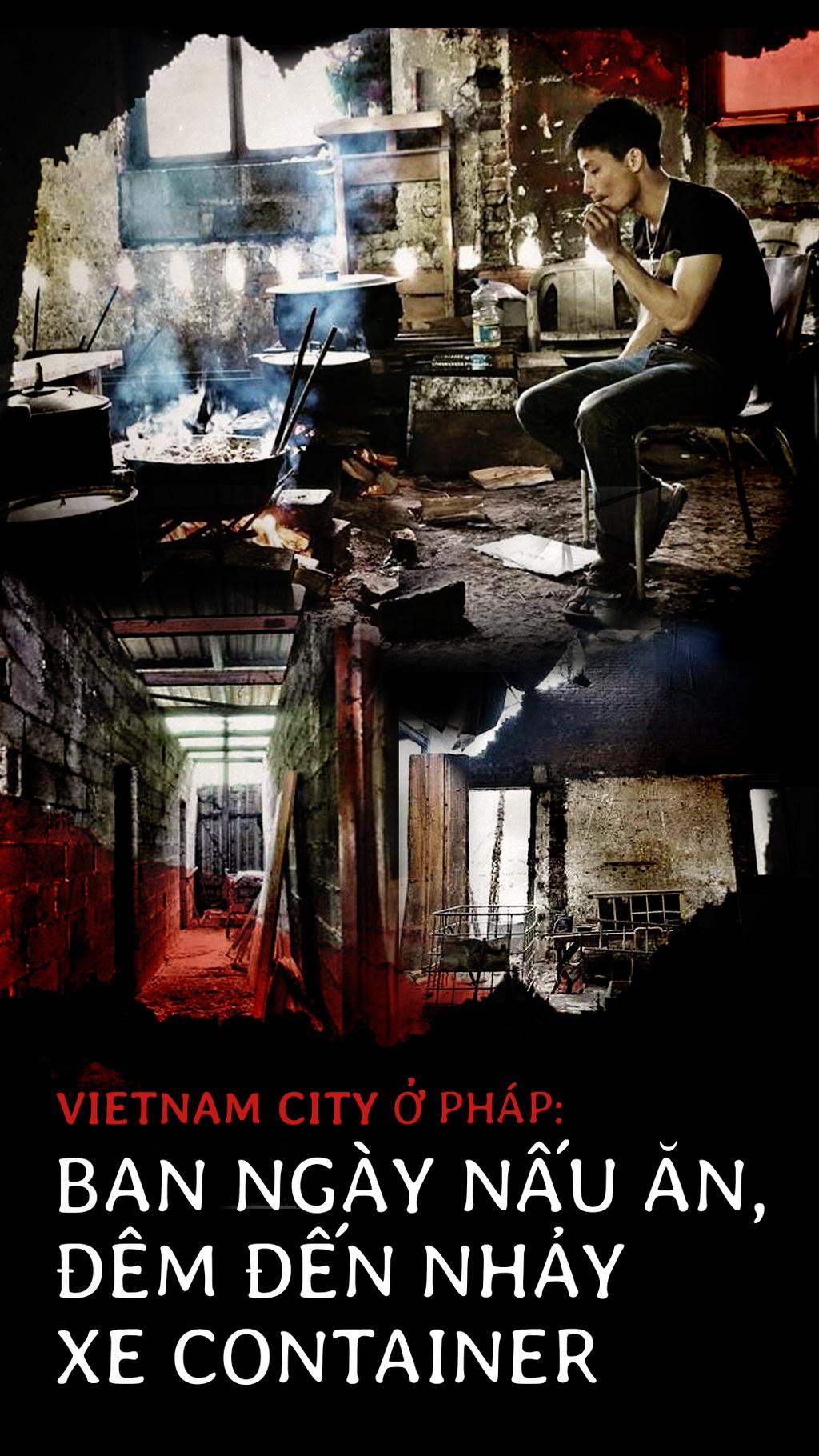 Vietnam City o Phap: Ban ngay nau an, dem den nhay xe container hinh anh 1