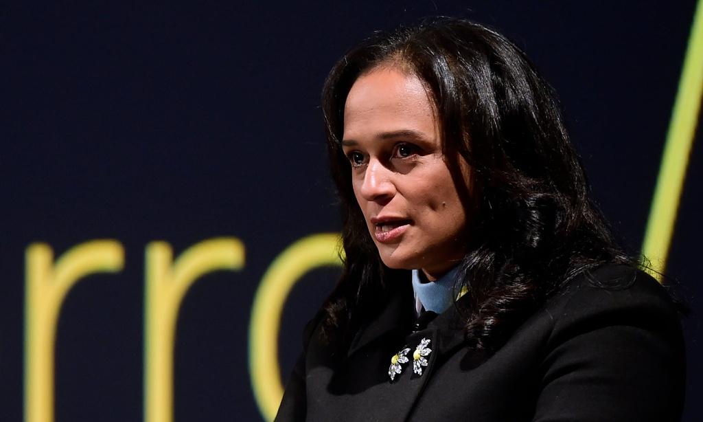 Con gái cựu tổng thống Angola từng lãnh đạo công ty dầu khí quốc gia, trước khi bị tổng thống mới bãi nhiệm năm 2017. Ảnh: AFP.