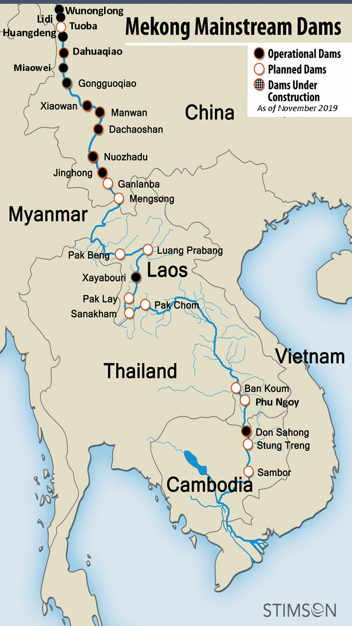 Cac dap Trung Quoc giu nuoc song Mekong hinh anh 1 2020_SEA_1075_Mekong_dams_operational_as_of_Nov_2019.png