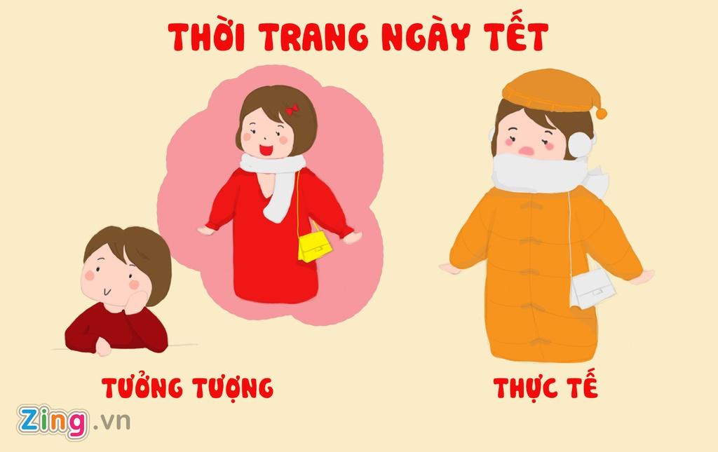 Tranh vui: Tet von di 'khong nhu la mo' doi voi hoi chi em Viet hinh anh 1