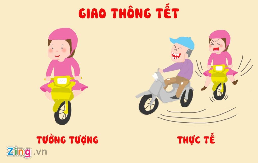 Tranh vui: Tet von di 'khong nhu la mo' doi voi hoi chi em Viet hinh anh 4