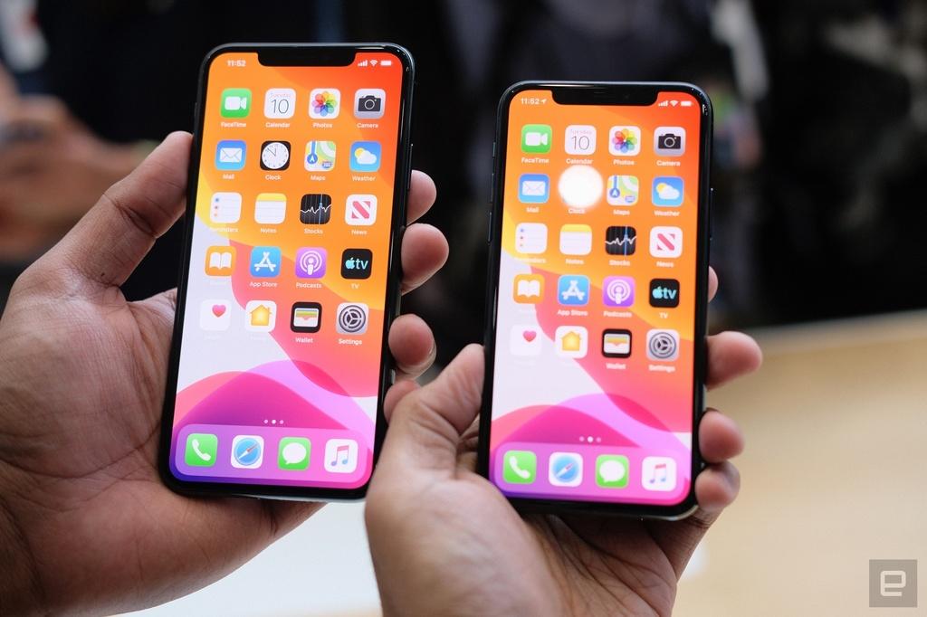 Nhìn bức ảnh này, bạn có phân biệt được iPhone 11 Pro/11 Pro Max với iPhone XS/XS Max không? Ảnh: Engadget.