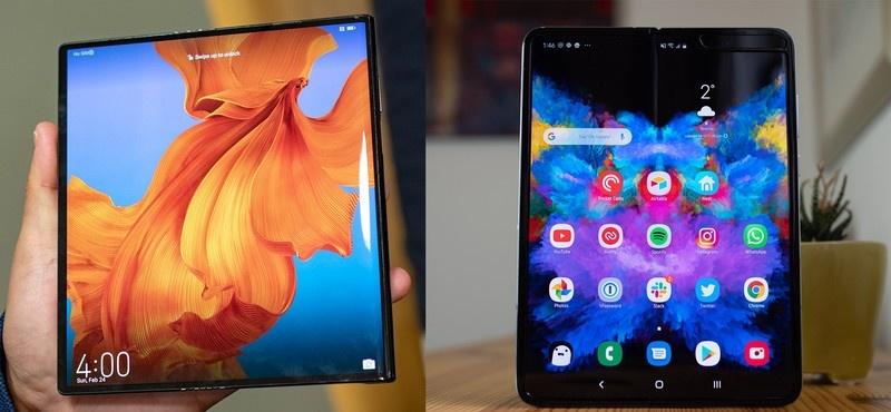 Samsung Galaxy Fold và Huawei Mate X, 2 smartphone màn hình gập sắp bán ra thị trường. Ảnh: Android Central.