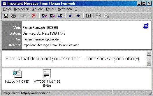 Ba loai virus may tinh tung am anh Microsoft va ca the gioi hinh anh 4 Melissa_virus_fast_company.jpg
