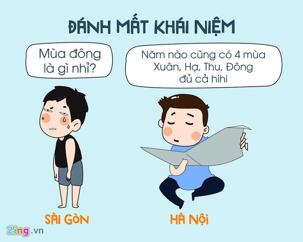 Khi mua dong ve, Ha Noi va Sai Gon khac nhau the nao? hinh anh 1