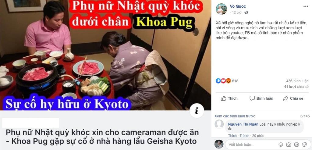 Khoa Pug la vlogger du lich nhung lai mang phu nu ra cau view hinh anh 2