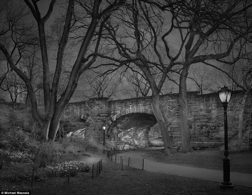 Central Park am u khong mot bong nguoi vao ban dem hinh anh 1