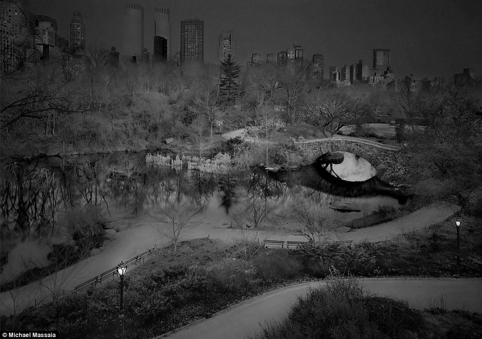 Central Park am u khong mot bong nguoi vao ban dem hinh anh 9