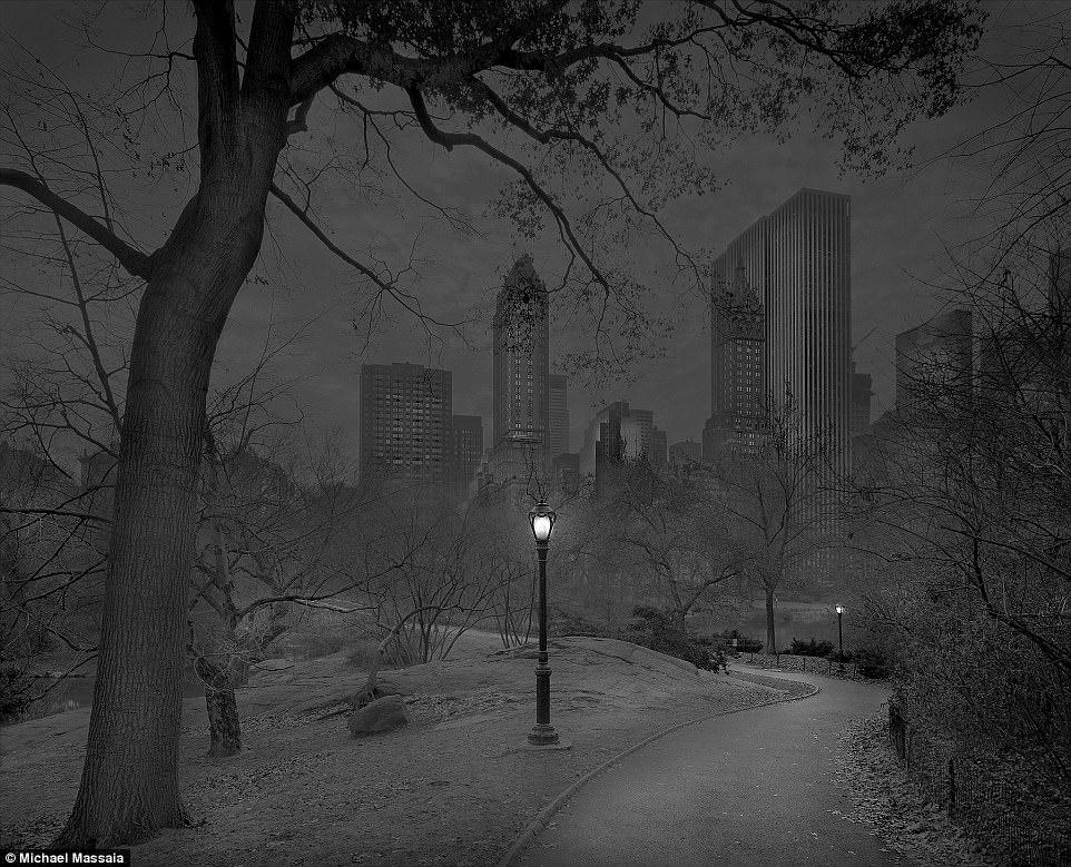Central Park am u khong mot bong nguoi vao ban dem hinh anh 2