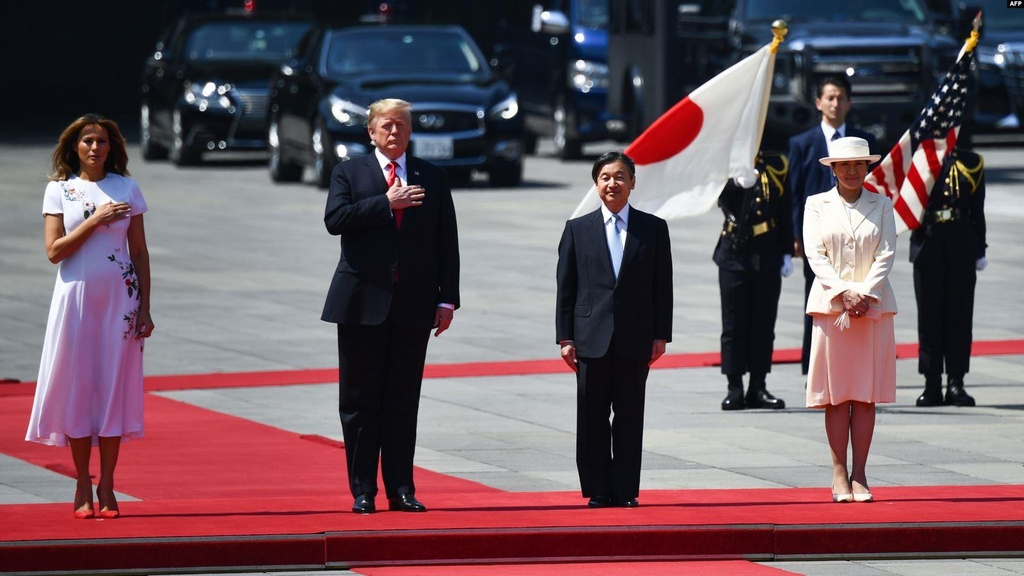 Tong thong Trump hoi kien Nhat hoang Naruhito tai Hoang cung hinh anh 6