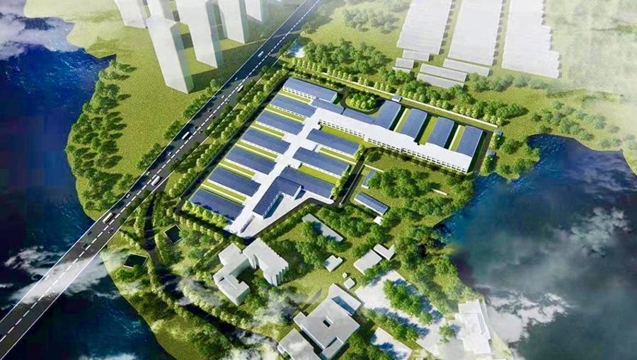 Hình ảnh phối cảnh của bệnh viện Huoshenshan được phát hành vào ngày 28/1. Việc xây dựng bệnh viện bắt đầu vào ngày 24/1. Ảnh: China Daily.
