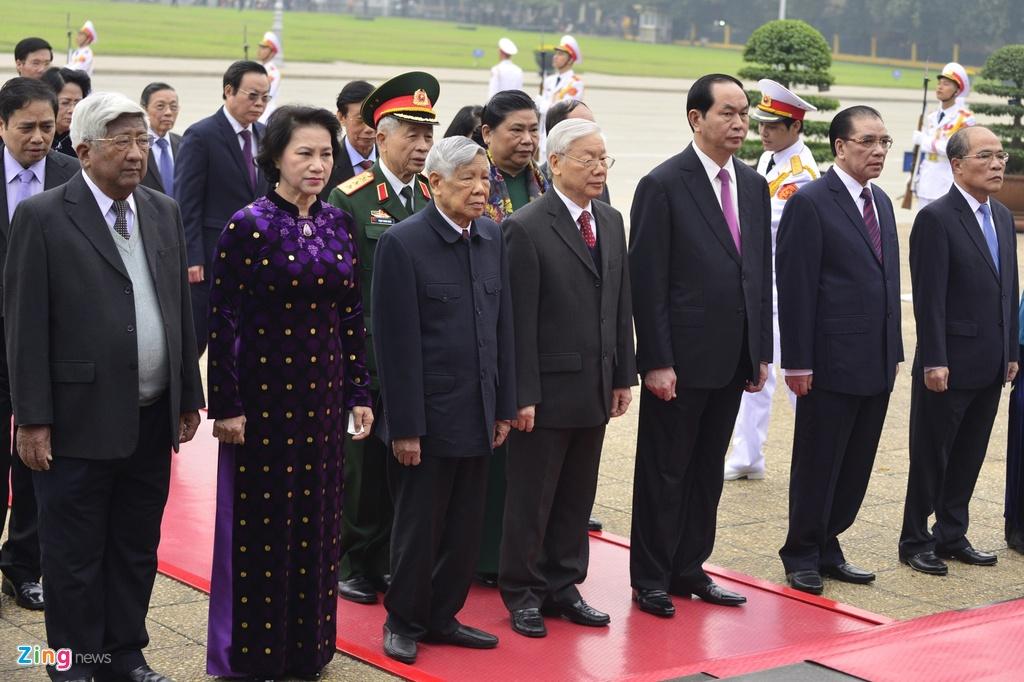 Lanh dao Dang, Nha nuoc vieng Chu tich Ho Chi Minh hinh anh 4
