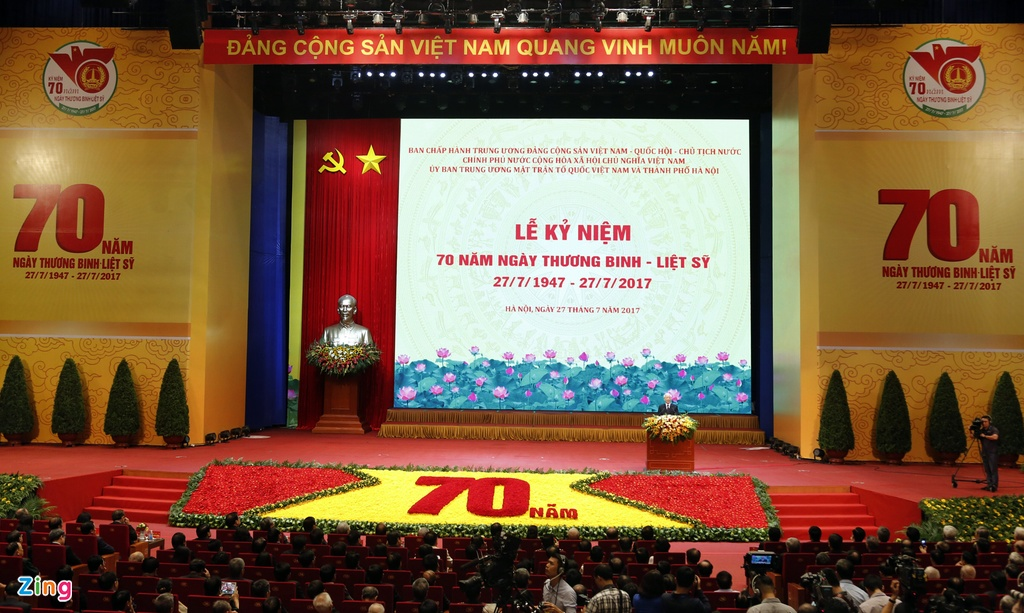 Toan canh le ky niem 70 nam ngay Thuong binh Liet si hinh anh 1