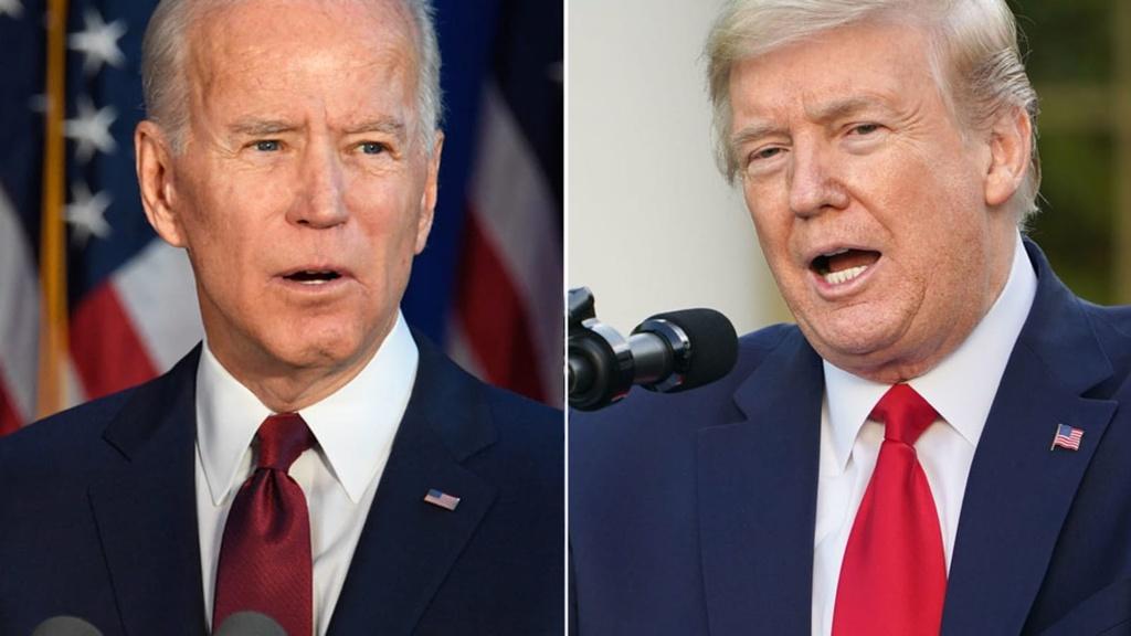 Donald Trump bi Joe Biden bo xa anh 6