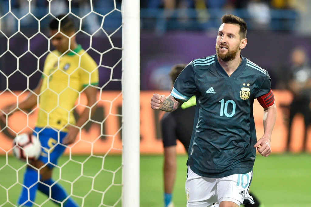 Messi ghi ban sau an treo gio giup Argentina thang Brazil hinh anh 5